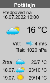 Počasí Potštejn - Slunečno.cz