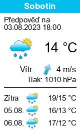 Počasí Sobotín - Slunečno.cz