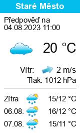 Počasí Staré Město (Šumperk) - Slunečno.cz