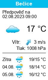 Počasí Bečice - Slunečno.cz