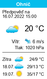 Počasí Ohníč - Slunečno.cz