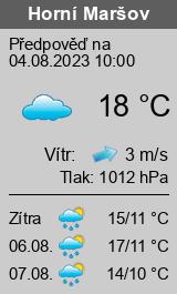 Počasí Horní Maršov - Slunečno.cz