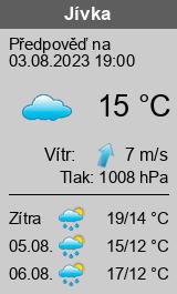 Počasí Jívka - Slunečno.cz