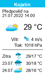 Počasí Kojatín - Slunečno.cz