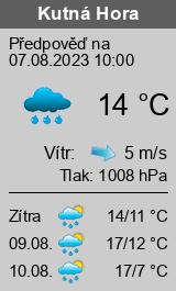 Počasí Kutná Hora - Slunečno.cz