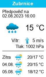 Počasí Zubrnice - Slunečno.cz