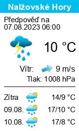 Počasí Nalžovské Hory - Slunečno.cz