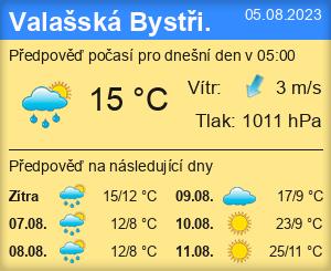 Počasí Valašská Bystřice - Slunečno.cz