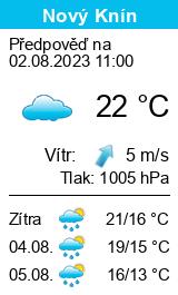 Počasí Nový Knín - Slunečno.cz