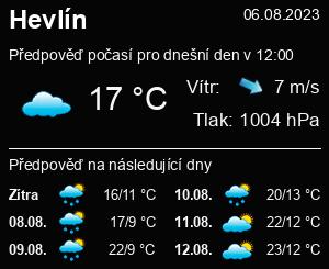 Počasí Hevlín - Slunečno.cz