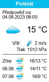 Počasí Potštát - Slunečno.cz