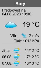 Počasí Bory - Slunečno.cz