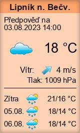 Počasí Lipník nad Bečvou - Slunečno.cz