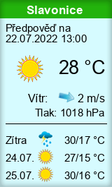 Počasí Slavonice - Slunečno.cz