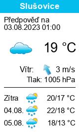 Počasí Slušovice - Slunečno.cz