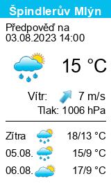 Počasí Špindlerův Mlýn - Slunečno.cz