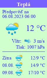 Počasí Teplá - Slunečno.cz