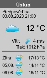 Počasí Ústup - Slunečno.cz