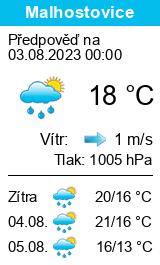 Počasí Malhostovice - Slunečno.cz