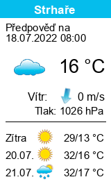 Počasí Strhaře - Slunečno.cz