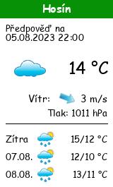 Počasí Hosín - Slunečno.cz