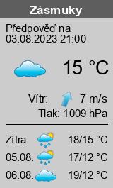 Počasí Zásmuky - Slunečno.cz