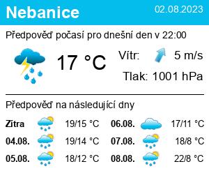 Počasí Nebanice - Slunečno.cz
