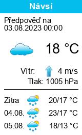 Počasí Návsí - Slunečno.cz