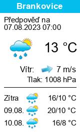 Počasí Brankovice - Slunečno.cz