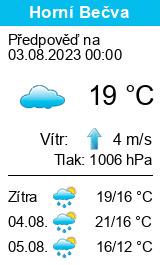 Počasí Horní Bečva - Slunečno.cz
