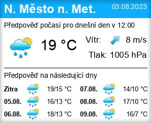 Počasí Nové Město nad Metují - Slunečno.cz