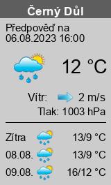 Počasí Černý Důl - Slunečno.cz