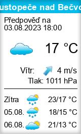 Počasí Hustopeče nad Bečvou - Slunečno.cz