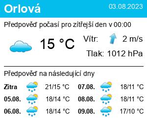 Počasí Orlová (rybník) - Slunečno.cz