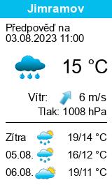 Počasí Jimramov - Slunečno.cz