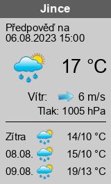 Počasí Jince - Slunečno.cz