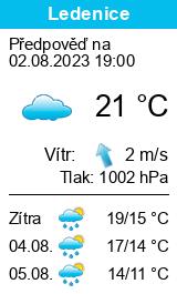 Počasí Ledenice - Slunečno.cz