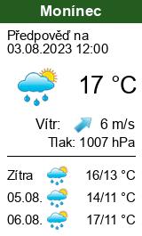 Počasí Monínec - Slunečno.cz