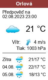 Počasí Orlová - Slunečno.cz