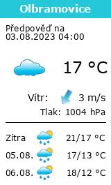 Počasí Olbramovice (okres Benešov) - Slunečno.cz