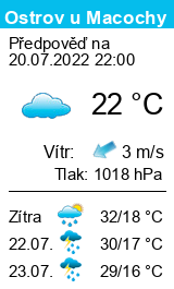 Počasí Ostrov u Macochy - Slunečno.cz
