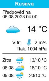 Počasí Rusava - Slunečno.cz