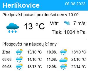 Počasí Herlíkovice- Vrchlabí - Slunečno.cz