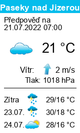 Počasí Paseky nad Jizerou - Slunečno.cz