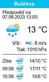 počasí bublava - slunečno.cz