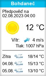 Počasí Bohdaneč - Slunečno.cz