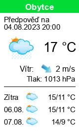 Počasí Obytce - Slunečno.cz