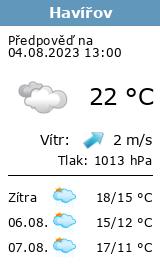 Počasí Havířov - Slunečno.cz