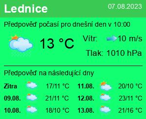 Počasí Lednice - Slunečno.cz