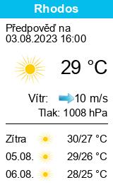Počasí Rhodos - Slunečno.cz